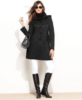 DKNY Coat, Hooded Raincoat