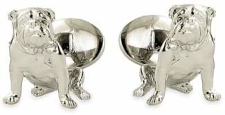 David Donahue 'Bulldog' Sterling Silver Cuff Links