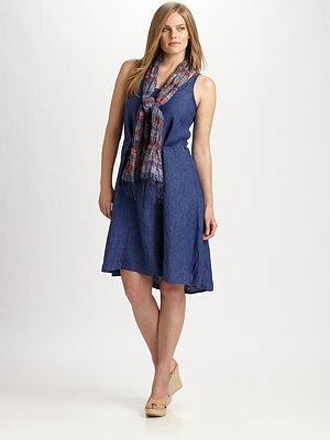 Eileen Fisher Eileen Fisher, Salon Z Washed Linen Dress