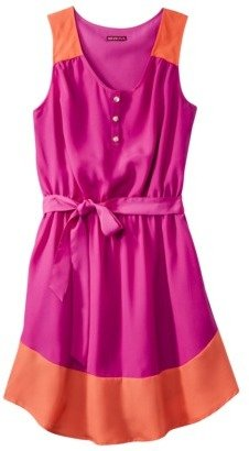 Merona Women's Shirttail Hem Colorblock Dress - Assorted Colors