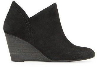 MANGO Wedge suede ankle boots