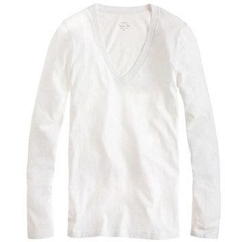 J.Crew Tissue long-sleeve V-neck T-shirt