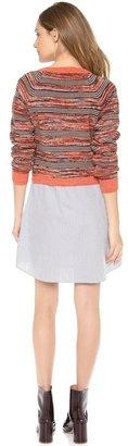 Thakoon Marled Stripe Sweatshirt Dress