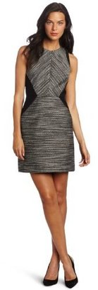 Kenneth Cole Women's Petite Mixed Media Flared Dress