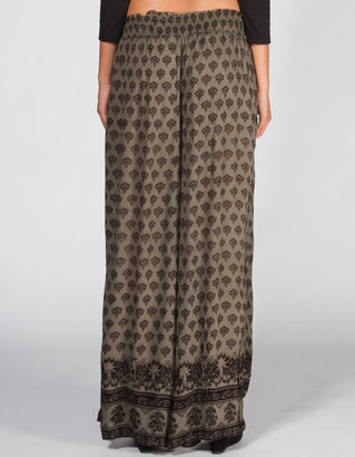 Angie Ethnic Print Womens Wide Leg Pants