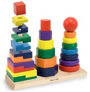 Melissa & Doug Kids Toys, Geometric Stacker