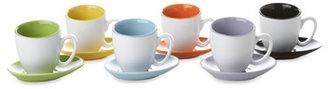 Bed Bath & Beyond Classic Coffee & Tea Contemporary Cups and Saucers Set - 12 Pieces