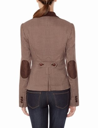 The Limited Houndstooth Elbow Patch Jacket