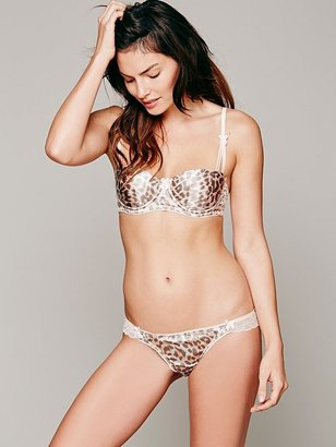 Free People Mimi Holiday Frost Leopard Knicker