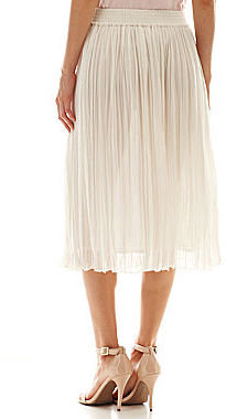 MNG by Mango Pleated Midi Skirt