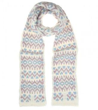 Saint Laurent Chunky-knit scarf