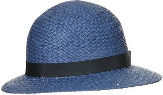 Topshop Straw Wide Brim Cloche Hat