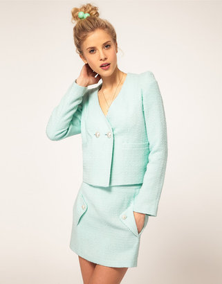 Asos Blazer With Pearl Buttons