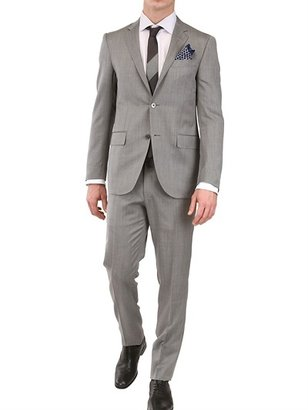 Corneliani Micro Herringbone Wool And Silk Suit