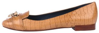Tory Burch Rebekah New Croc Print Flat