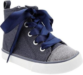 Old Navy Glitter-Ribbon Sneakers for Baby