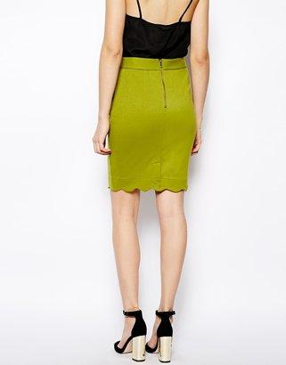 Darling Gracie Scalloped Hem Skirt
