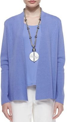 Eileen Fisher Silk Cotton Interlock Jacket, Plume $368 thestylecure.com