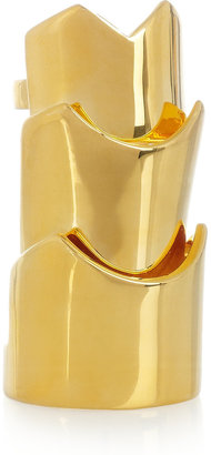 Eddie Borgo Hinged gold-plated ring