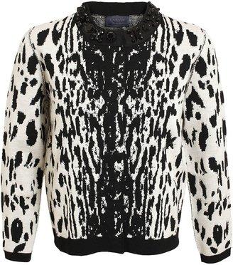 Lanvin Leopard Intarsia Wool-blend Cardigan