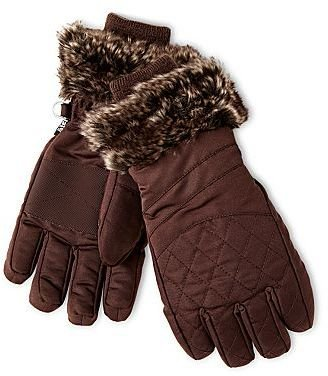 Joe Fresh FreshTM Faux-Fur Trim Gloves - Girls