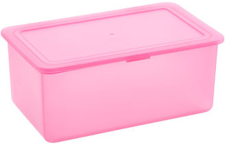 Container Store Stackable Storage Box Pink
