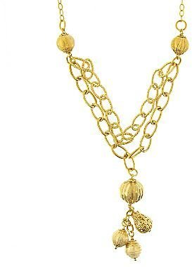 JCPenney Dangle Bead Necklace 14K/Bronze