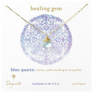 Dogeared Blue Quartz Pendant Necklace