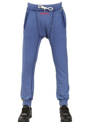 DSquared Vintage Fade Dyed Cotton Fleece Trousers