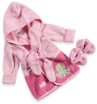Just Born Robe & Bootie Set - Newborn to 9 months (Pink Octopus)