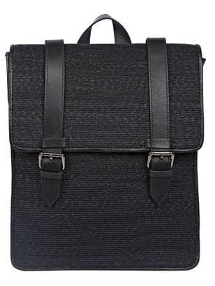 Superduper - Newsboy Cable-Grain Leather Backpack