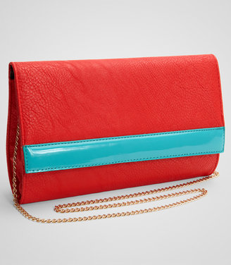 Fred Flare Contrast Stripe Clutch