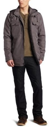Kenneth Cole Reaction Men's Coated Ottoman Walker Jacket With Hood