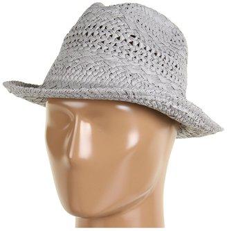 Echo Textured Straw Fedora (Grey) - Hats