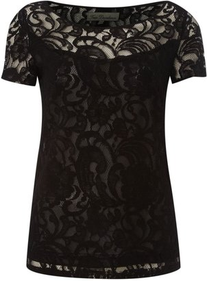 House of Fraser True Decadence Luxe lace t-shirt