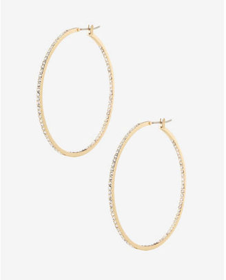Express Pave Hoop Earrings $19.90 thestylecure.com