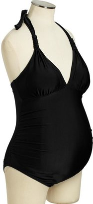Old Navy Maternity Ruched Halter Swimsuits
