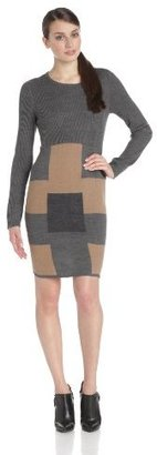 Amy Byer Women's Long Sleeve Colorblock Dress