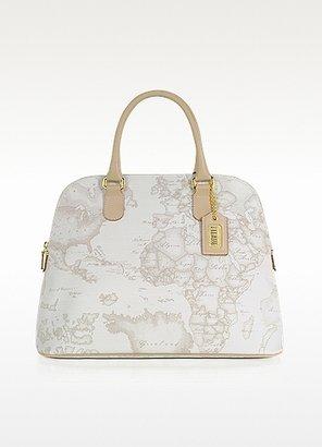 Alviero Martini Large White Geo Print Tote Bag