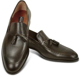 Fratelli Rossetti Dark Brown Calf Leather Tassel Loafer Shoes