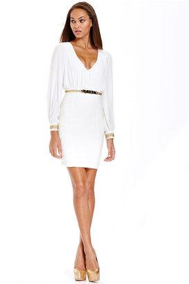 XOXO Dress, Long Sleeve Chain Belted Cutout