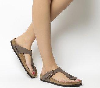 Birkenstock Gizeh Toe Thong Footbed Brown Moca
