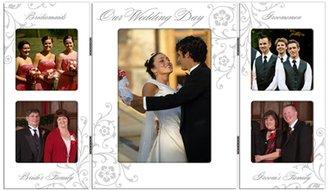 "Malden Wedding Storyboard Frame w/ 5-Openings, 1- 5 x 7"" & 4- 3 x 3"""