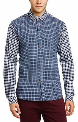 Solid Men's Kaushal Regular Fit Button Down Long Sleeve Casual Shirt