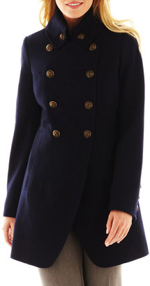 JCPenney Worthington Cutout Military Coat