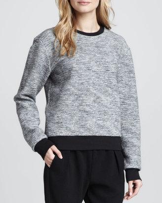 Rebecca Taylor Melange Knit Runway Sweatshirt