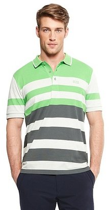 HUGO BOSS Paddy Modern Fit, Striped Cotton Polo Shirt - Light/Pastel Grey