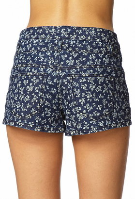 Forever 21 ditsty floral denim shorts