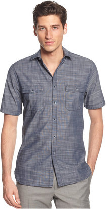 Alfani Short Sleeve Warren Textured Shirt, Only at Macy's $49.50 thestylecure.com
