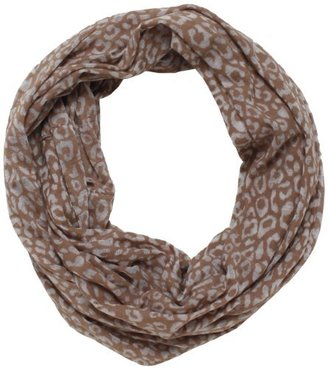 D&Y Women's Burnout Jersey Leopard Animal Print Scarf